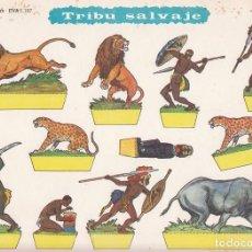 Coleccionismo Recortables: RECORTABLES, TRIBU SALVAJE. RECORTABLES EVA Nº 1107. MEDIDAS 22,5 X 30 CMS. AÑO 1965. CARTULINA. Lote 101375711