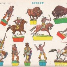 Coleccionismo Recortables: RECORTABLE: INDIOS. RECORTABLES EVA Nº 1108. MEDIDAS 22,5 X 30 CMS. AÑO 1965. CARTULINA. Lote 101375783