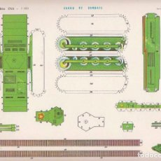 Coleccionismo Recortables: RECORTABLE: CARRO DE COMBATE. RECORTABLES EVA Nº 1109. MEDIDAS 22,5 X 30 CMS. AÑO 1965. CARTULINA. Lote 101375847
