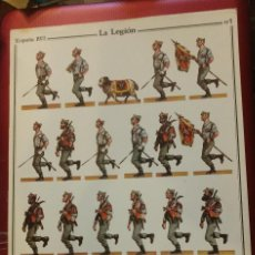 Coleccionismo Recortables: RECORTABLE LAMINA LA LEGION ESPAÑA 1972 Nº 1. D. SALAS. Lote 102591487