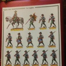 Coleccionismo Recortables: RECORTABLE LAMINA LA LEGION ESPAÑA 1922 D. SALAS.. Lote 102591595