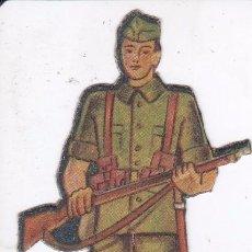 Coleccionismo Recortables: CROMO TROQUELADO DEL EJERCITO NACIONAL: LEGIONARIO (GUERRA CIVIL) MIDE 13CM. Lote 104073619