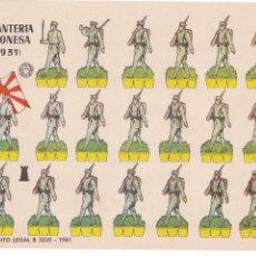 Coleccionismo Recortables: INFANTERÍA JAPONESA (1931). Lote 105114623