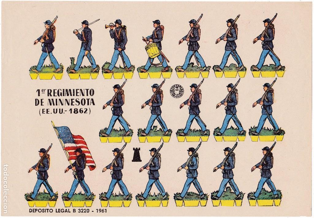 1ER REGIMIENTO DE MINESOTA ( EE.UU.-1862) (Coleccionismo - Recortables - Soldados)