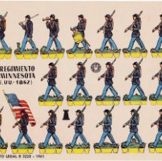 Coleccionismo Recortables: 1ER REGIMIENTO DE MINESOTA ( EE.UU.-1862). Lote 105117331