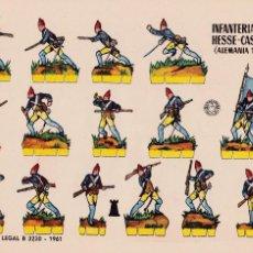 Coleccionismo Recortables: INFANTERÍA DE HESSE-CASSEL (ALEMANIA 1776). Lote 105117591