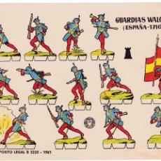 Coleccionismo Recortables: GUARDIAS WALONAS (ESPAÑA- 1710). Lote 105117903
