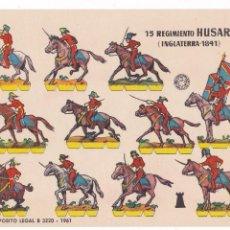 Coleccionismo Recortables: 15 REGIMIENTO HUSARES (INGLATERRA-1841). Lote 105118327