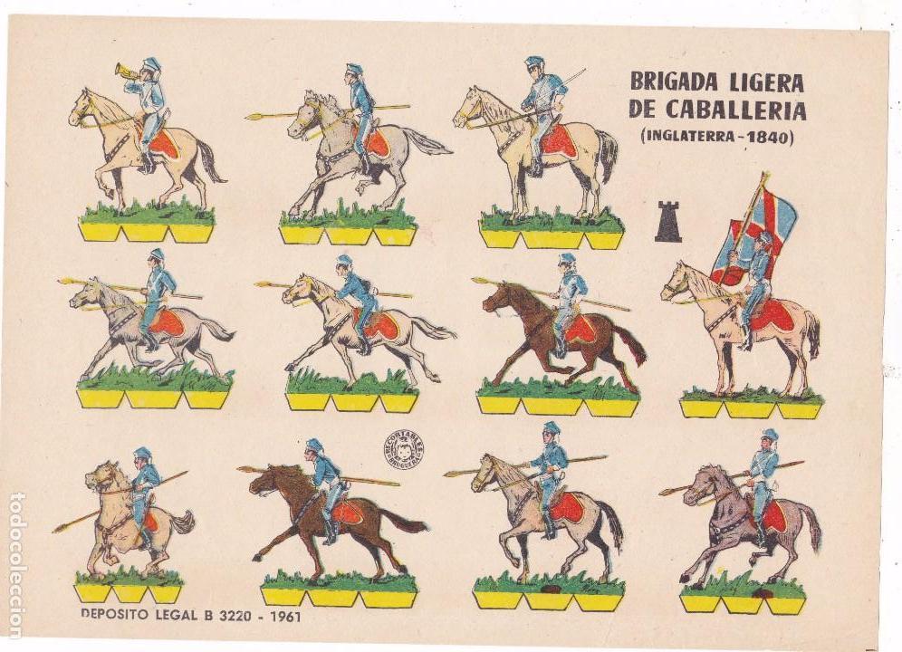 BRIGADA LIGERA DE CABALLERÍA (INGLATERRA-1840) (Coleccionismo - Recortables - Soldados)