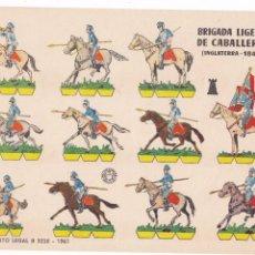Coleccionismo Recortables: BRIGADA LIGERA DE CABALLERÍA (INGLATERRA-1840). Lote 105119143