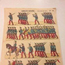 Coleccionismo Recortables: RECORTABLE PALUZIE SERIE EJERCITO ESPAÑOL Nº 50 INFANTERIA DE LINEA - ORIGINAL. Lote 105374231