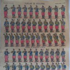 Coleccionismo Recortables: IMAGERIE PELLERIN.FANFARE DE HUSSARS.IMAGERIE D'EPINAL Nº 235. Lote 106186667