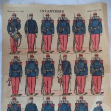 Coleccionismo Recortables: IMAGERIE PELLERIN.INFANTERIE.IMAGERIE D'EPINAL Nº 63. Lote 106187031