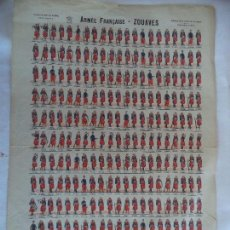 Coleccionismo Recortables: IMAGERIE MARCEL VAGNE ARMEE FRANCAISE_ZOUAVES. Lote 106189059