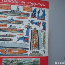 Coleccionismo Recortables: SOLDADOS EN CAMPAÑA NUMERO 2 FUERZAS NAVALES. Lote 106965291