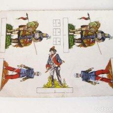 Coleccionismo Recortables: RECORTABLE DE LOS AÑOS 80 CON SOLDADOS DE ALGUN PRODUCTO ALIMENTARIO. Lote 107339643