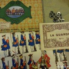 Coleccionismo Recortables: GRAN SERIE SCENION Nº 1. LA GUARDIA. CARPETA SEIX BARRAL. ILUSTRADA OPISSO. MBE. AÑOS 1920S. Lote 108053895