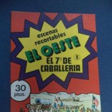Coleccionismo Recortables: OCHO CUADERNILLOS RECORTABLES EL OESTE. Lote 108792635