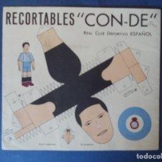 Coleccionismo Recortables: RECORTABLES CON-DE.REAL CLUB DEPORTIVO ESPAÑOL. Lote 109251263