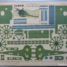Coleccionismo Recortables: CAÑON - SERIE A Nº3 - AÑOS 1940 - LIT. M. PORTABELLA, ZARAGOZA. Lote 111898367