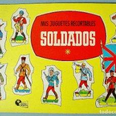 Coleccionismo Recortables: MIS JUGUETES RECORTABLES. SOLDADOS. MUNDO INFANTIL . BRUGUERA. AÑOS 50. NUEVO.. Lote 112861423