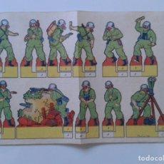 Coleccionismo Recortables: RECORTABLES RECORTES EDITORIAL ROMA BARCELONA CONSTRUCCIONES PEPI SERIE SOLDADOS Nº 20. Lote 114772727
