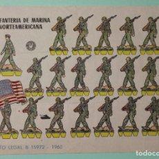 Coleccionismo Recortables: RECORTABLE BRUGUERA. INFANTERIA DE MARINA NORTEAMERICANA. DEPOSITO LEGAL B-15972. AÑO 1960. . Lote 114941715
