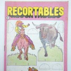 Coleccionismo Recortables: RECORTABLES UNA NOVEDAD MUY DIVERTIDA 2. OESTE (ESTUDI BONNET) BRUGUERA, 1984. Lote 147670770