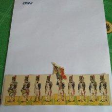 Coleccionismo Recortables: ANTIGUO RECORTABLE DE SOLDADOS. Lote 115372611