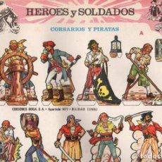 Coleccionismo Recortables: HEROES Y SOLDADOS. SERIE COMPLETA 8 MODELOS. BOGA 1973. Lote 116735267