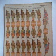 Coleccionismo Recortables: LA TIJERA SERIE 10.INFANTERIA INGLESA Nº 5.SOLDADOS RECORTABLES Y MONTABLES.LOS MAS ANTIGUOS. Lote 116744031