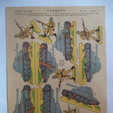 Coleccionismo Recortables: LA TIJERA SERIE 10.TANQUES Nº 12. Lote 116746403