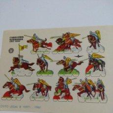 Coleccionismo Recortables: ANTIGUO RECORTABLE CABALLERIA NORMANDA AÑO 1000. Lote 117574671