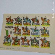 Coleccionismo Recortables: ANTIGUO RECORTABLE LANCEROS DEL EJERCITO MEXICANO 1865. Lote 117770691