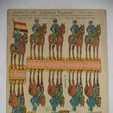 Coleccionismo Recortables: LA TIJERA SERIE 5.CABALLERIA ESPAÑOLA.Nº 2.BANDERA REPUBLICANA. Lote 118693659