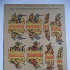 Coleccionismo Recortables: LA TIJERA SERIE 5.AMETRALLADORAS Y MORTEROS.Nº3. Lote 118693967