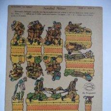 Coleccionismo Recortables: LA TIJERA SERIE 5 SANIDAD MILITAR Nº 6. Lote 118694247