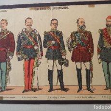 Coleccionismo Recortables: PALUZIE GALERIA DE SOBERANOS Nº 11. Lote 120720199