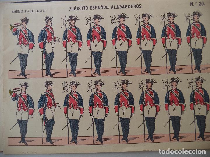 PALUZIE EJERCITO ESPAÑOL ALABARDEROS Nº 20 (Coleccionismo - Recortables - Soldados)