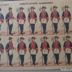 Coleccionismo Recortables: PALUZIE EJERCITO ESPAÑOL ALABARDEROS Nº 20. Lote 120720503