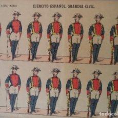 Coleccionismo Recortables: PALUZIE.EJERCITO ESPAÑOL.GUARDIA CIVIL Nº24.LIT DE HIJOS DE PALUZIE BARCELONA. Lote 121599091