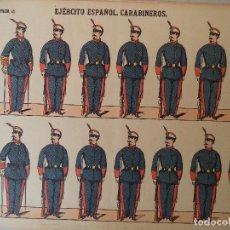 Coleccionismo Recortables: PALUZIE EJERCITO ESPAÑOL CARABINEROS Nº 22 BARCELONA LIT DE PALUZIE DIPUTACION 421. Lote 121601095