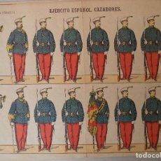 Coleccionismo Recortables: PALUZIE EJERCITO ESPAÑOL CAZADORE Nº 23 BARCELONA LIT DE PALUZIE DIPUTACION 421. Lote 121602051