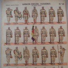 Coleccionismo Recortables: ESTAMPERIA ECONOMICA.EJERCITO ESPAÑOL CAZADORES EN CAMPAÑA VERANO Nº 40. Lote 121603131