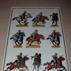 Coleccionismo Recortables: CAZADORES DE ALFONSO XII - ESPAÑA 1909 - DELFÍN SALAS. Lote 121654096
