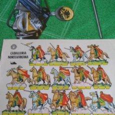 Coleccionismo Recortables: ANTIGUO RECORTABLE CABALLERÍA NORTEAFRICANA. Lote 125119151