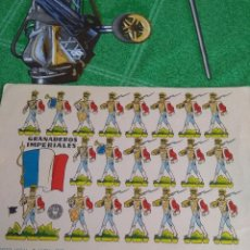 Coleccionismo Recortables: ANTIGUO RECORTABLE GRANADEROS IMPERIALES. Lote 294945063
