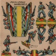 Coleccionismo Recortables: ANTIGUO RECORTABLE FUSILEROS MARINOS...SALIDA 0,01. Lote 129708978