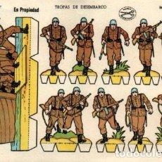 Coleccionismo Recortables: ANTIGUO RECORTABLE TROPAS ELITE...SALIDA 0,01. Lote 129709012