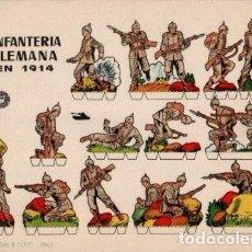 Coleccionismo Recortables: ANTIGUO RECORTABLE INFANTERIA ALEMANA EN 1914.....SALIDA 0,01. Lote 129709050